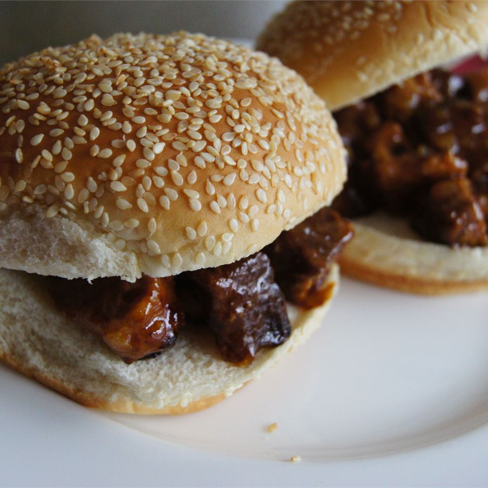 Slow Cooker BBQ Flat Iron Steak Sandwiches TheBritishBaker