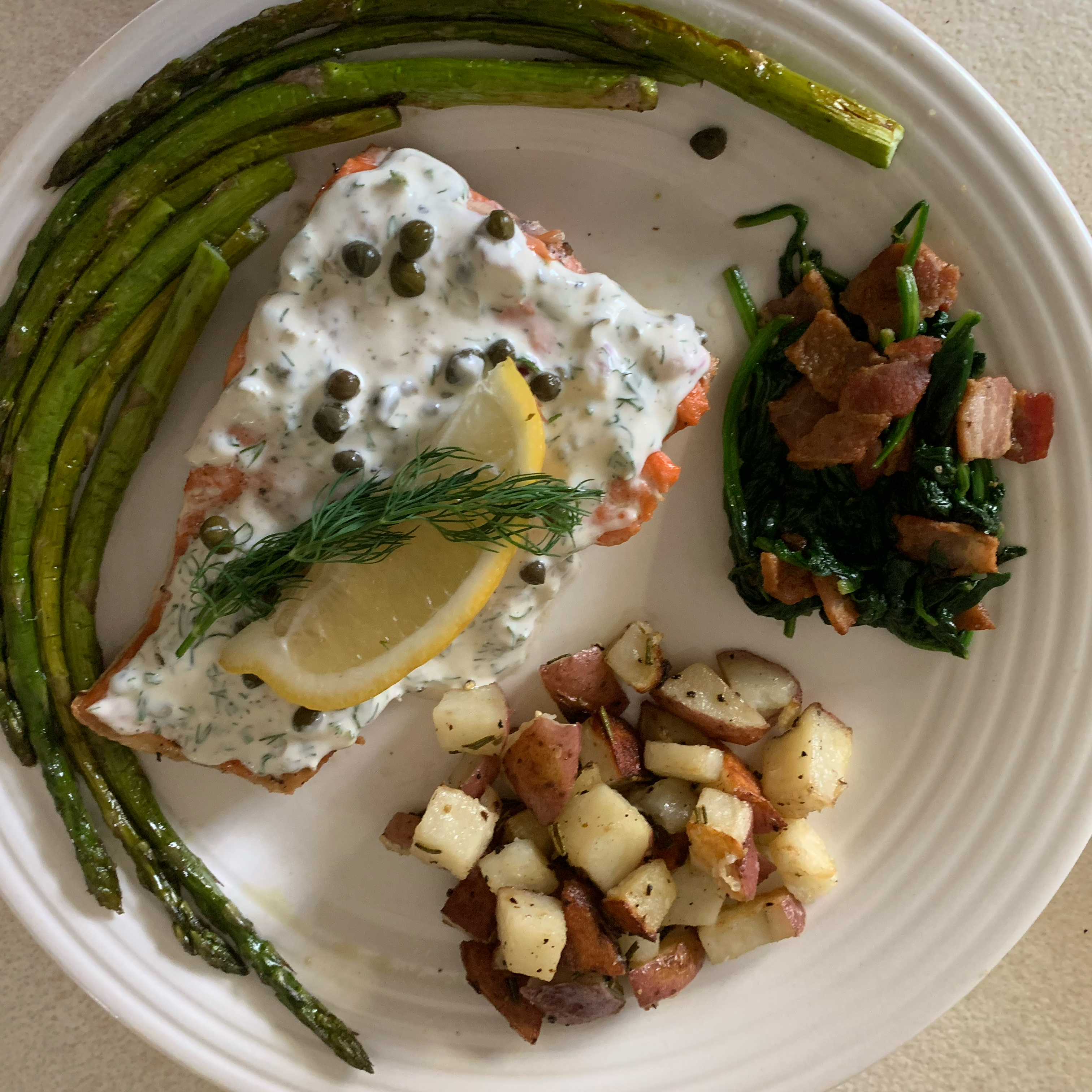 Salmon with Creamy Dill Sauce ashmpro