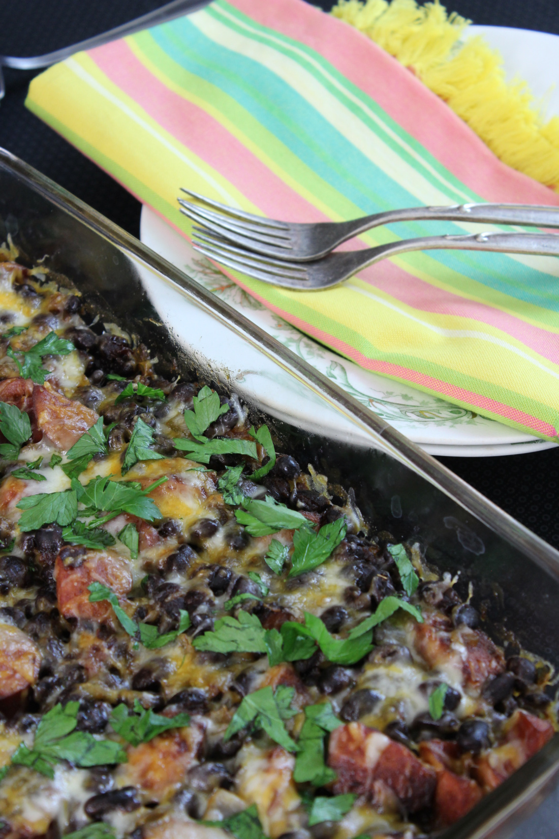 Tex-Mex Smoked Sausage Baked Beans