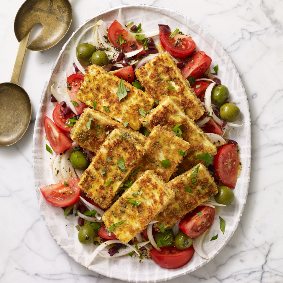 Tomato & Onion Salad with Crispy Tofu Allrecipes Trusted Brands