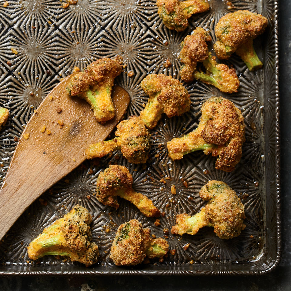 Almond flour (aka almond meal) makes the coating on these broccoli fries extra-crunchy and flavorful. Find it in the gluten-free section of large supermarkets and natural-foods stores.