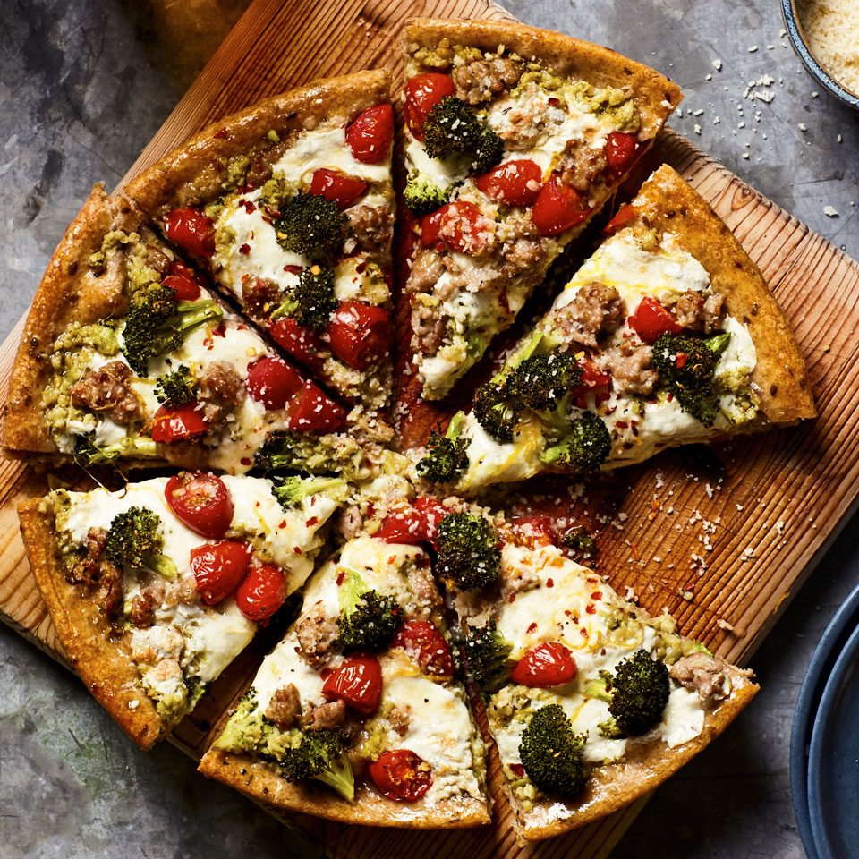 Broccoli & Sausage Skillet Pizza Trusted Brands