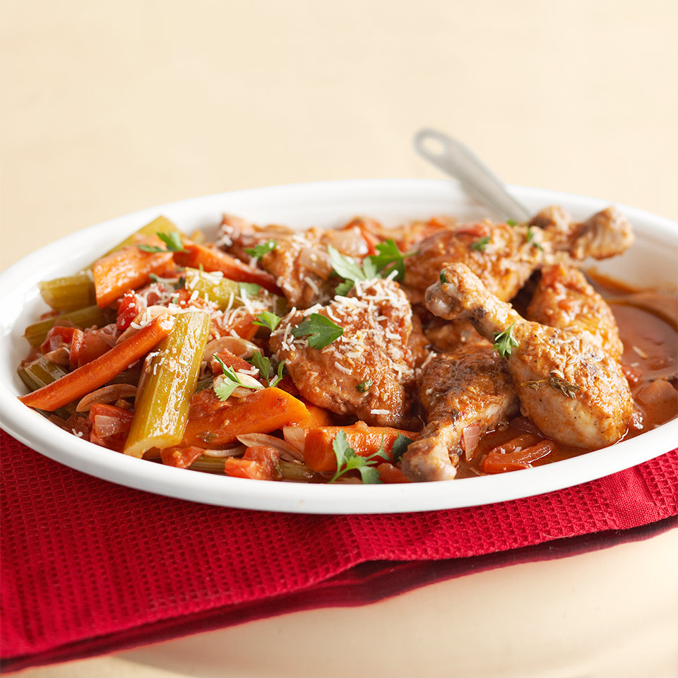 Fresh veggies and herbs spice up this tasty one-pot chicken that's easy to prepare for company or even on a busy weeknight.