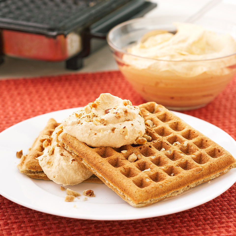 Spiced Waffles with Pumpkin Cream Diabetic Living Magazine