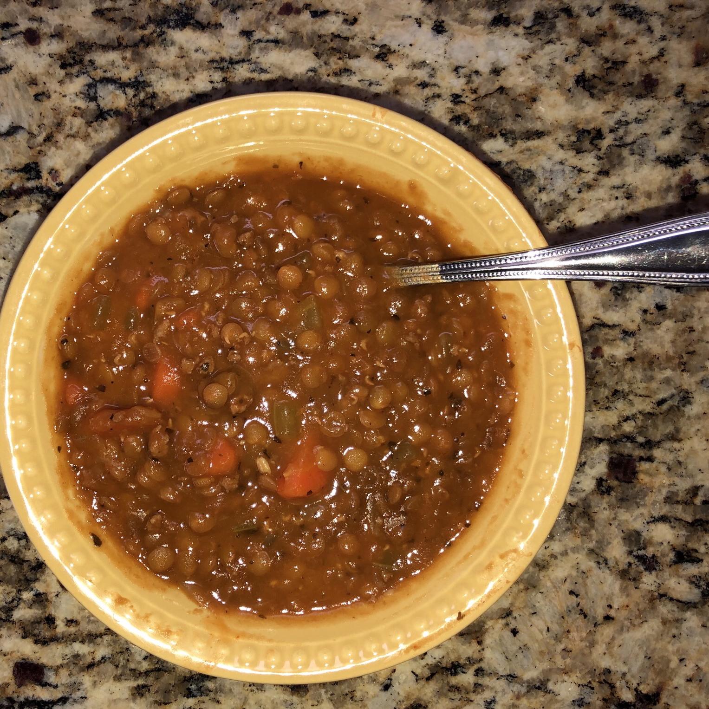 Instant Pot® Lentil and Ham Soup Motherheart