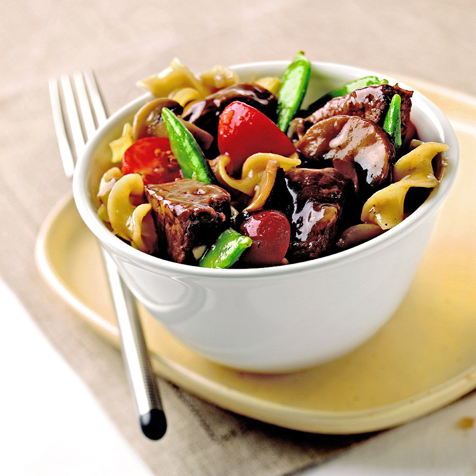 In this slow cooker main dish recipe, beef, parsnips, carrots, and artichokes simmer in a wine-beef broth. Tomatoes, raisins, and vinegar further flavor the one-dish meal. Source: Diabetic Living Magazine