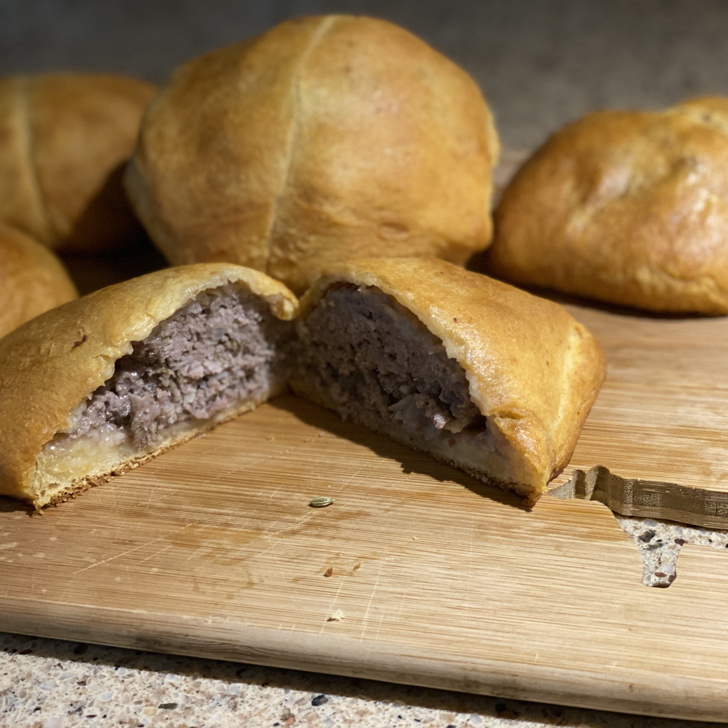 Ground Beef 'Wellington' with Fennel