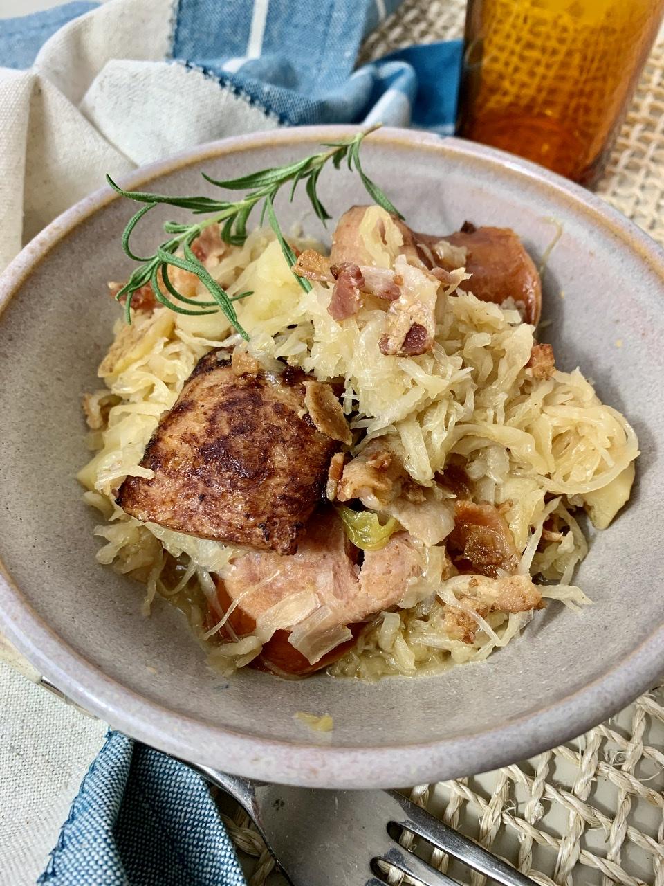 Instant Pot® Kielbasa, Sauerkraut, and Potato