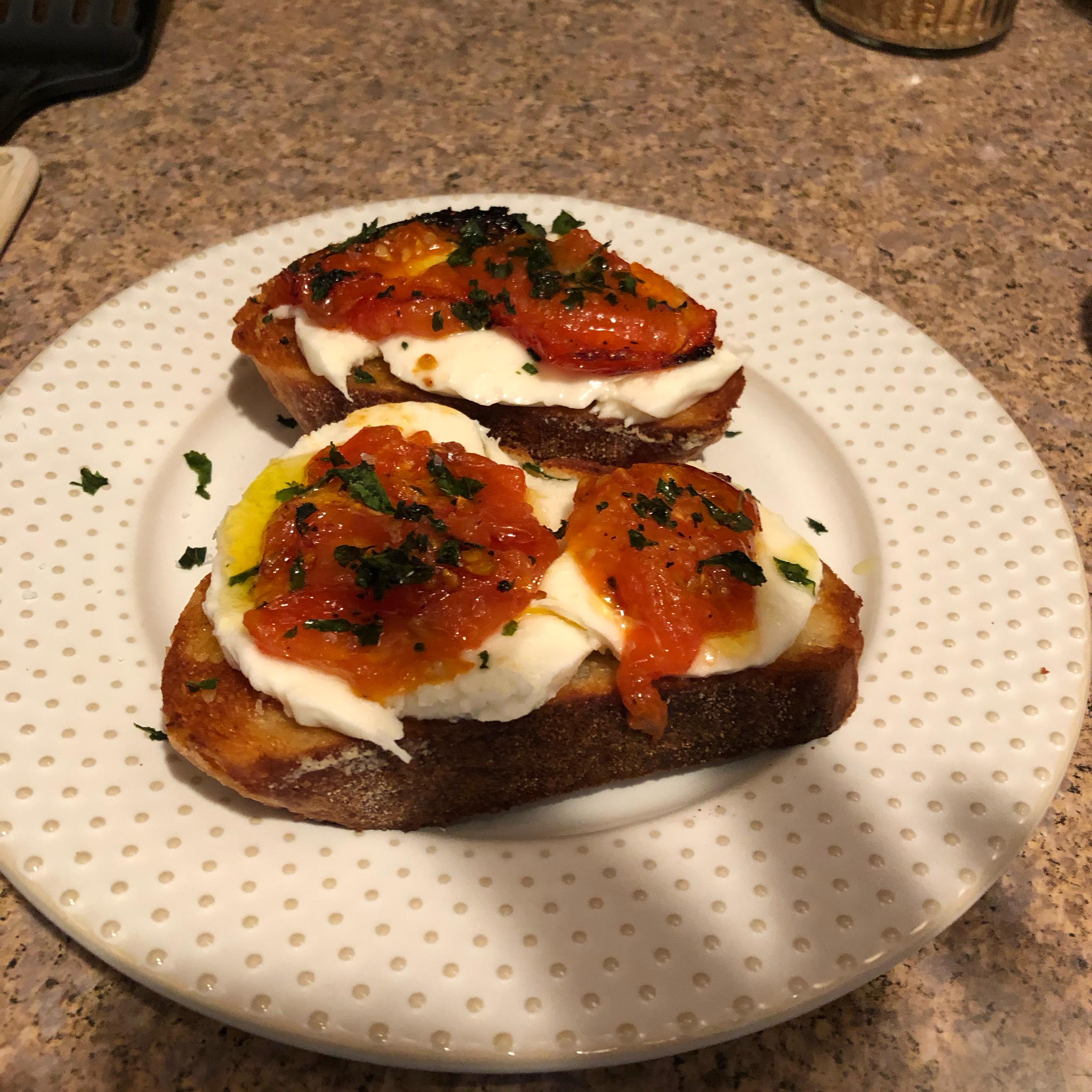 Roasted Tomato, Avocado, and Fresh Mozzarella Crostini Rhonda Librandi