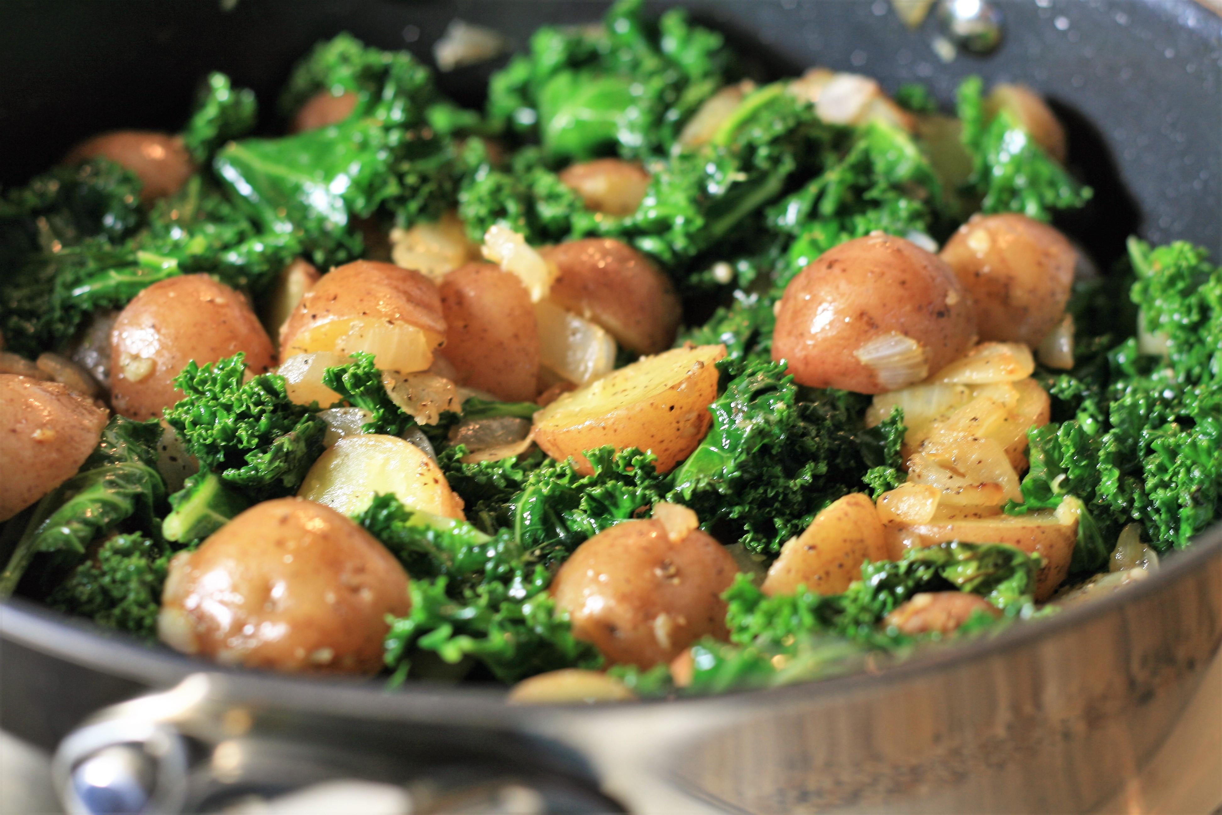 Sauteed Potatoes with Kale