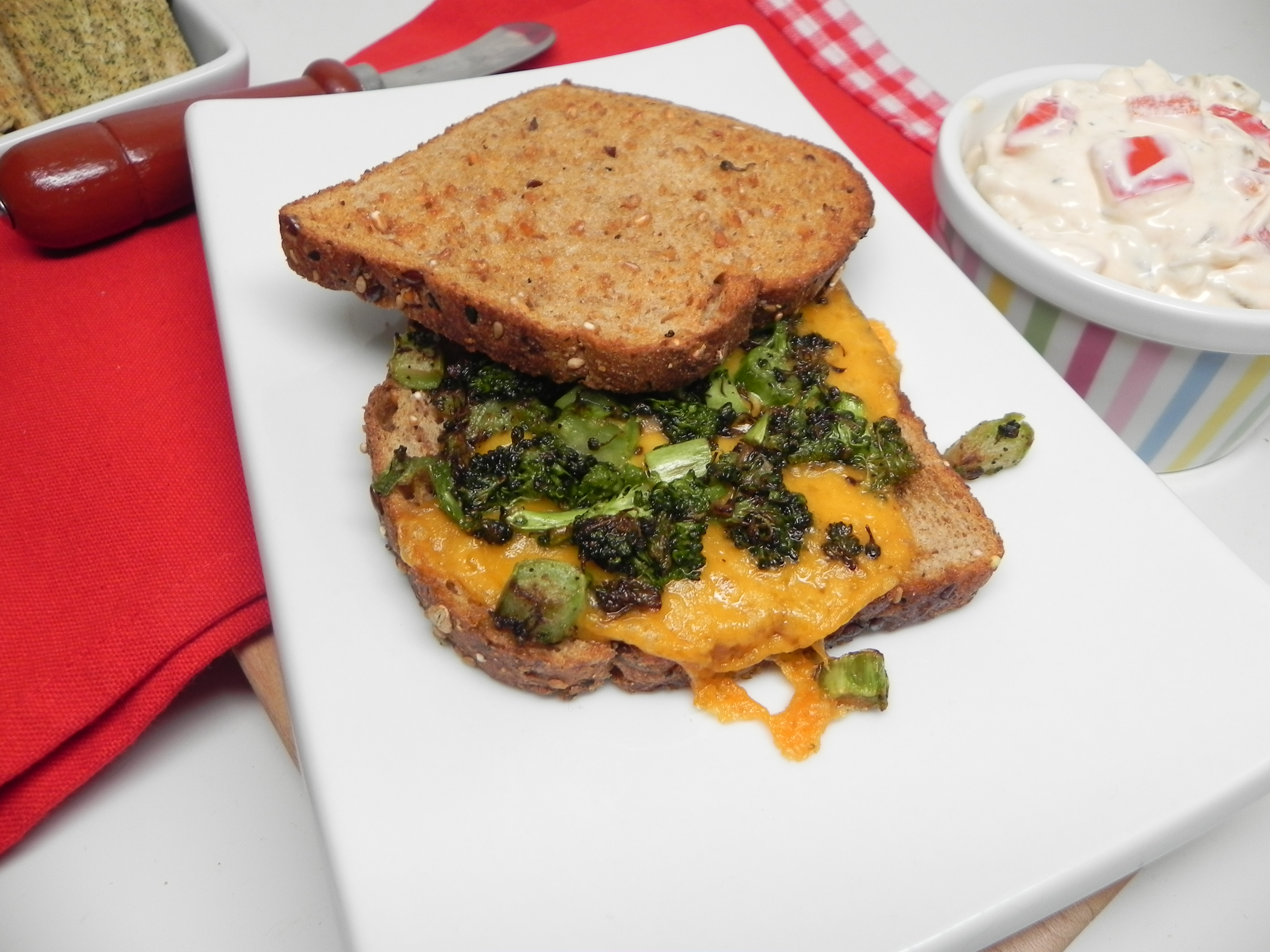 Grilled Broccoli and Cheese Sandwich