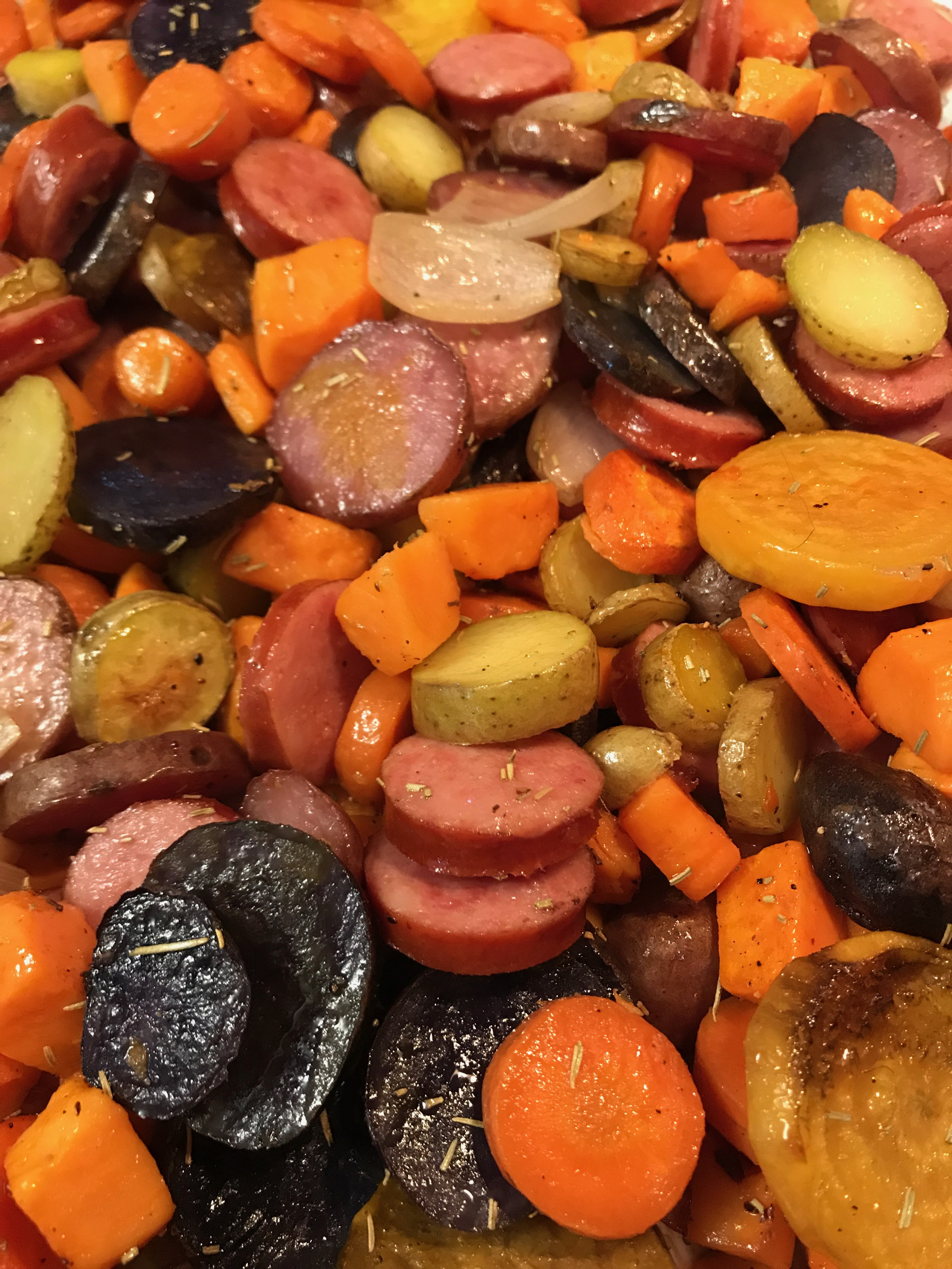 Hillshire Farm® Smoked Sausage and Roasted Root Veggies coops