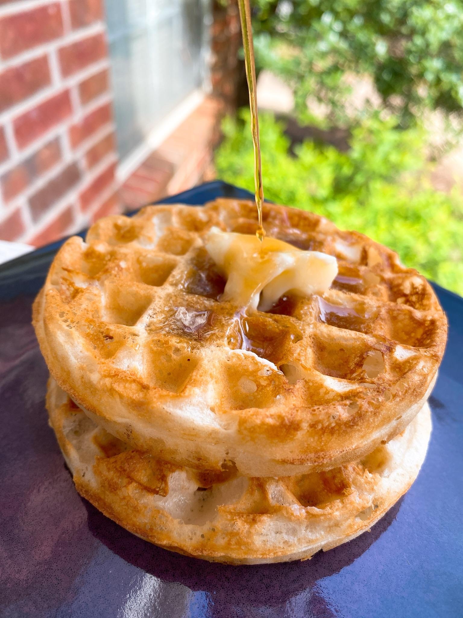 Crispy Eggless Waffles