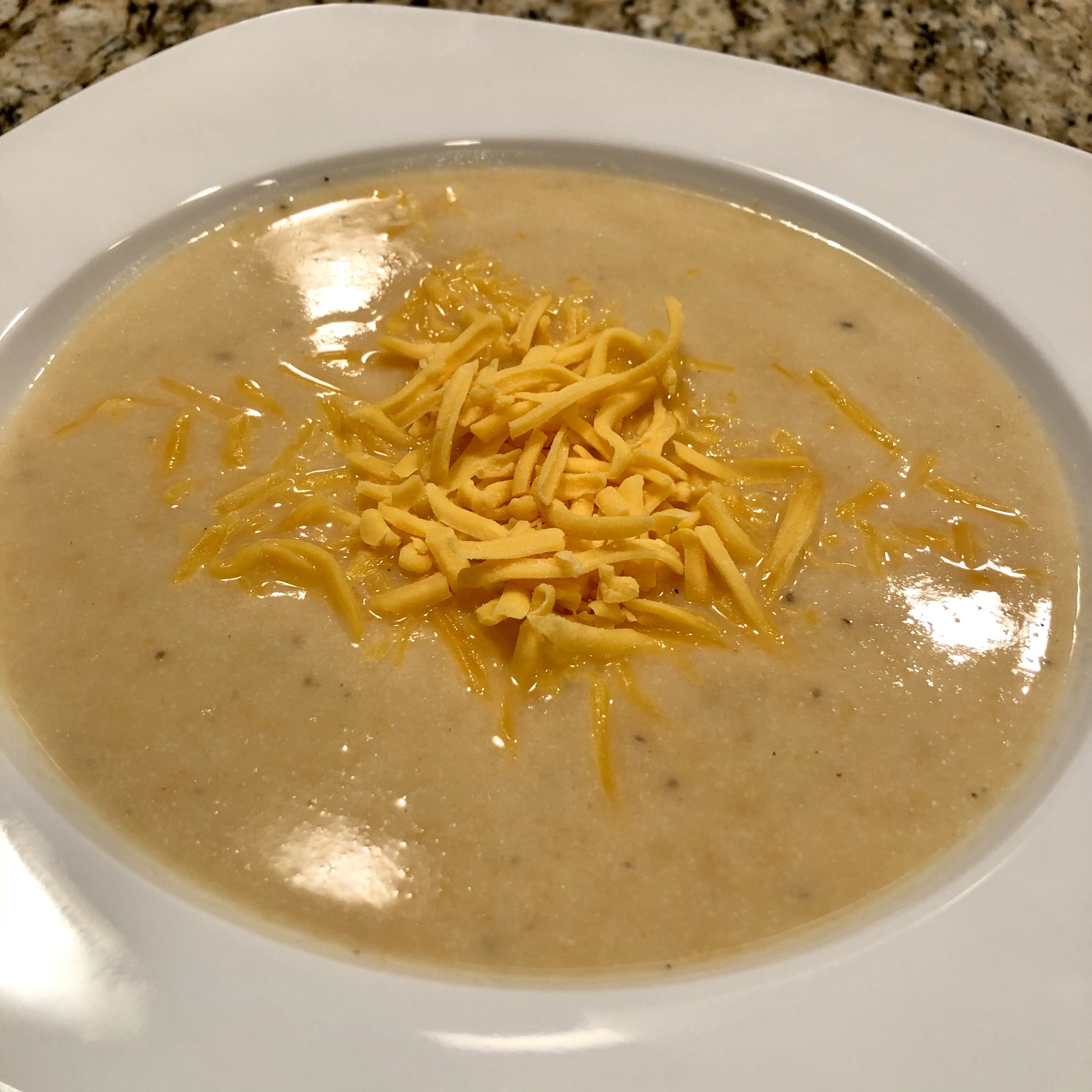 Easy Slow Cooker Cauliflower Soup with Cheese Jan Ayton