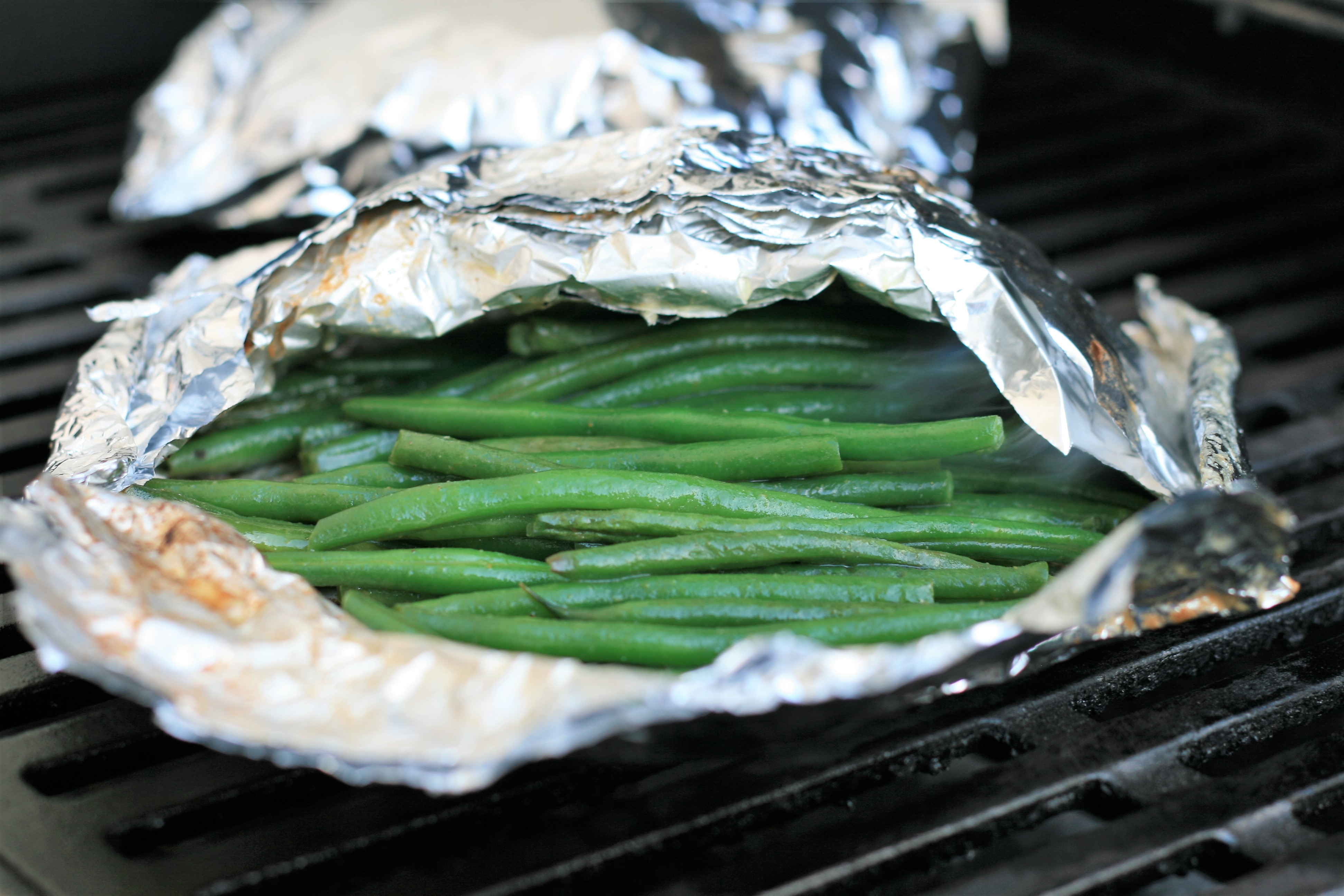 Green Beans Grilled in Foil