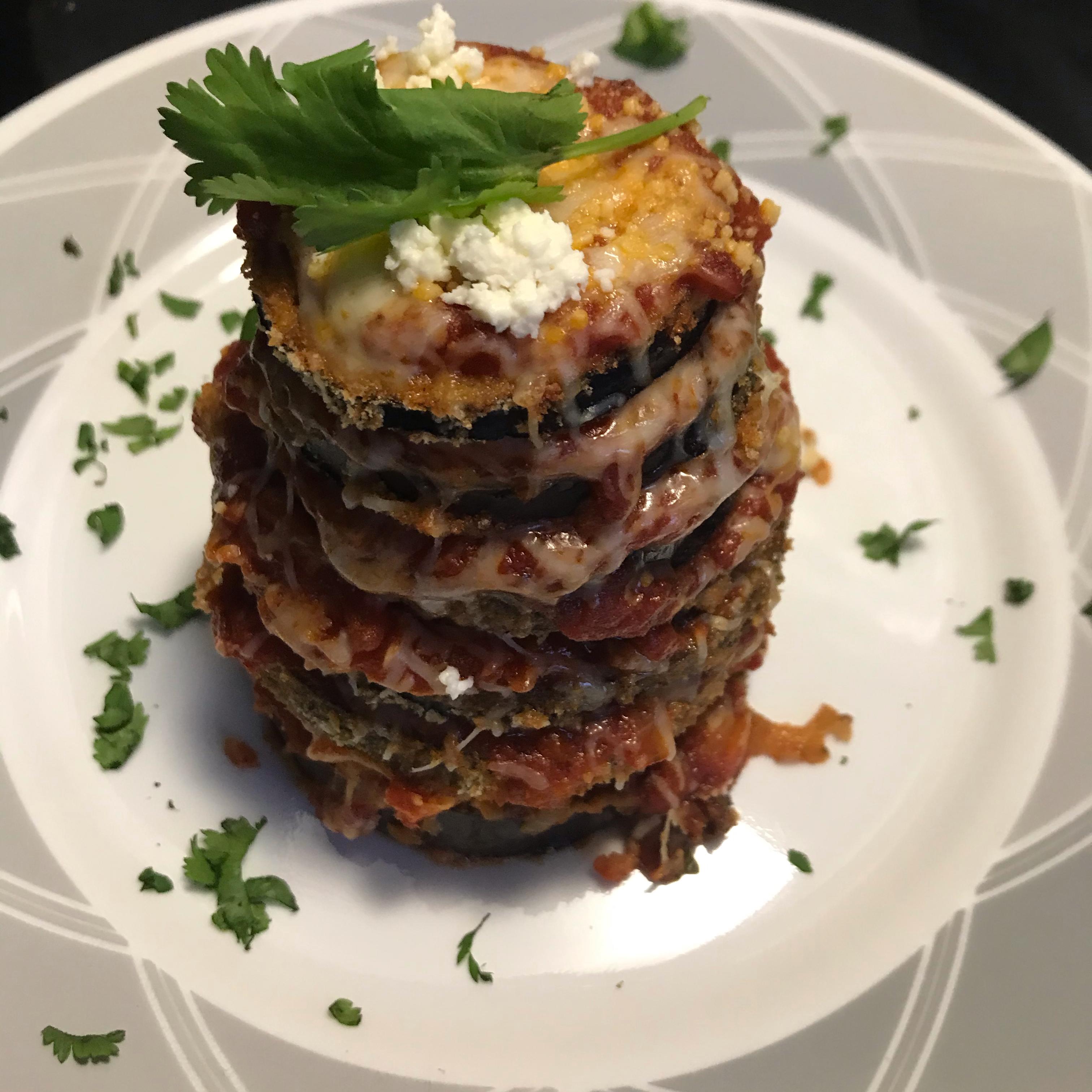 Crispy Eggplant Parmesan Stacks Claire Train