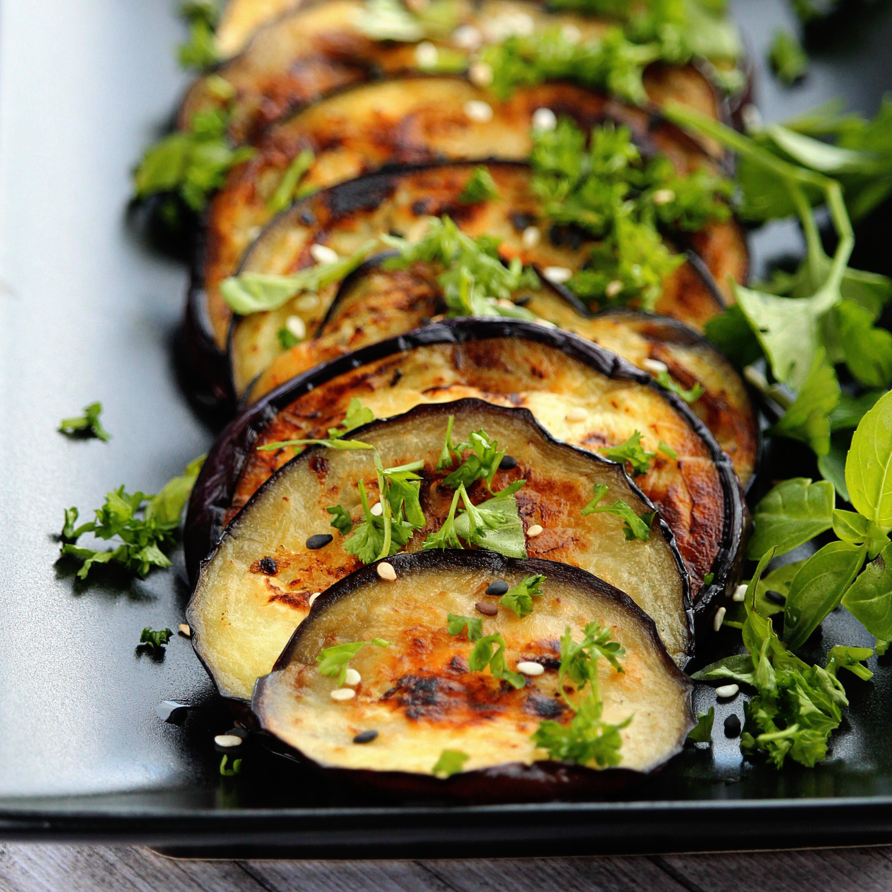 Italian Grilled Eggplant with Basil and Parsley (Melanzane Grigliate al Basilico e Prezzemolo) Buckwheat Queen