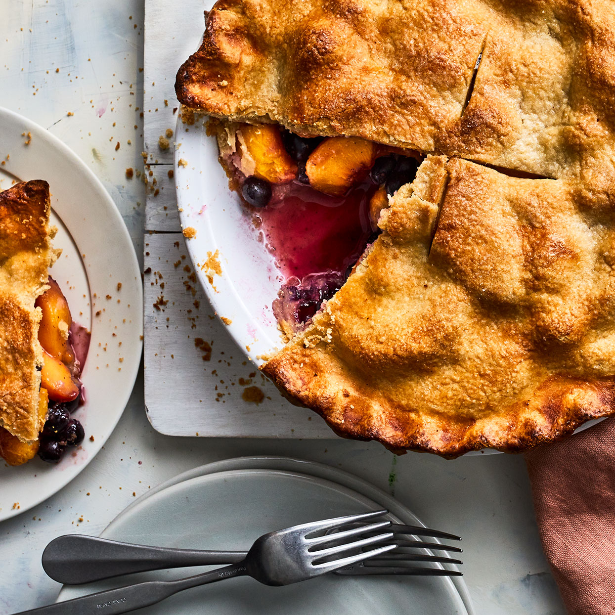 Peach-Blueberry Pie Trusted Brands