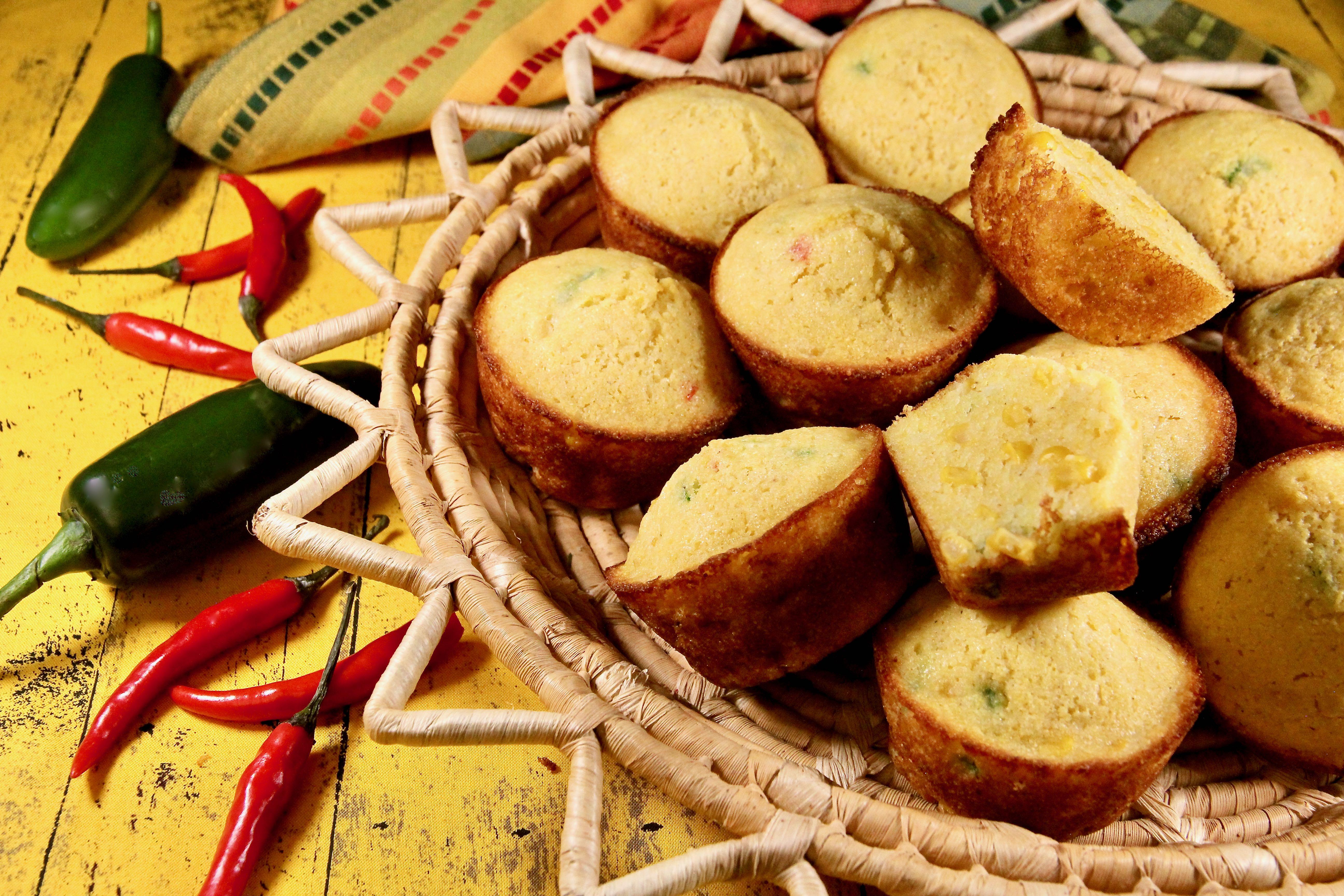 Cornbread-Jalapeno Muffins