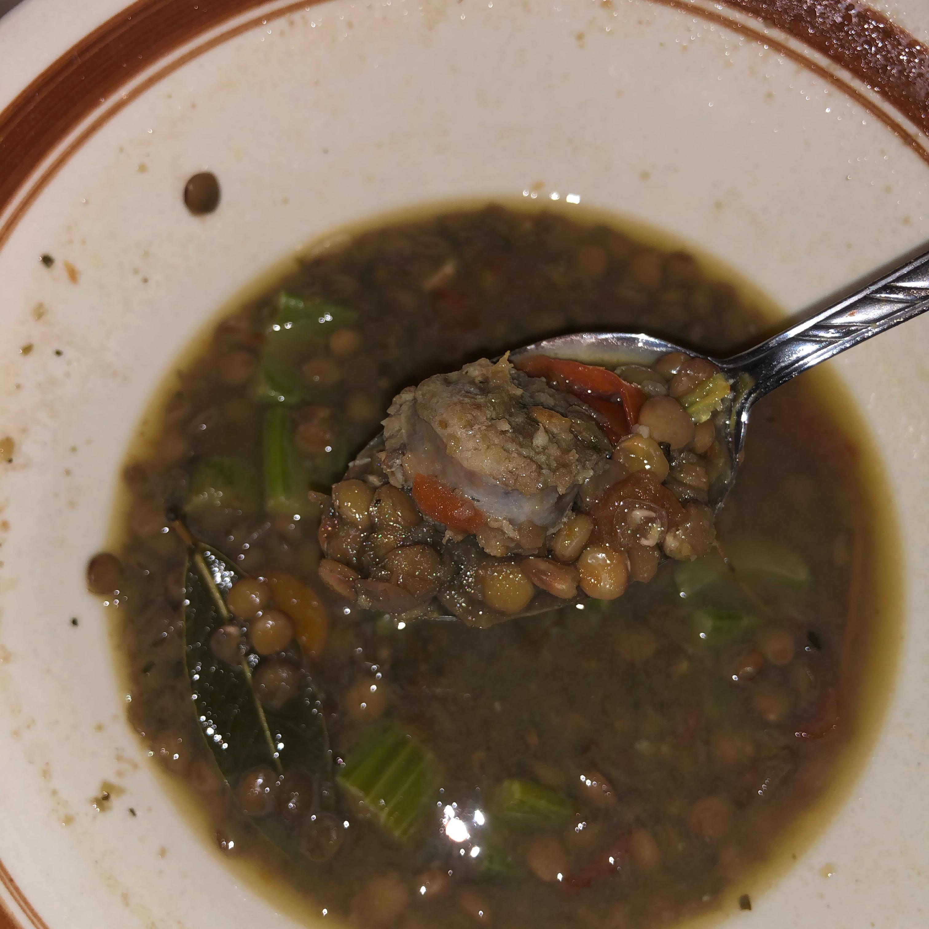 Lentil and Sausage Soup