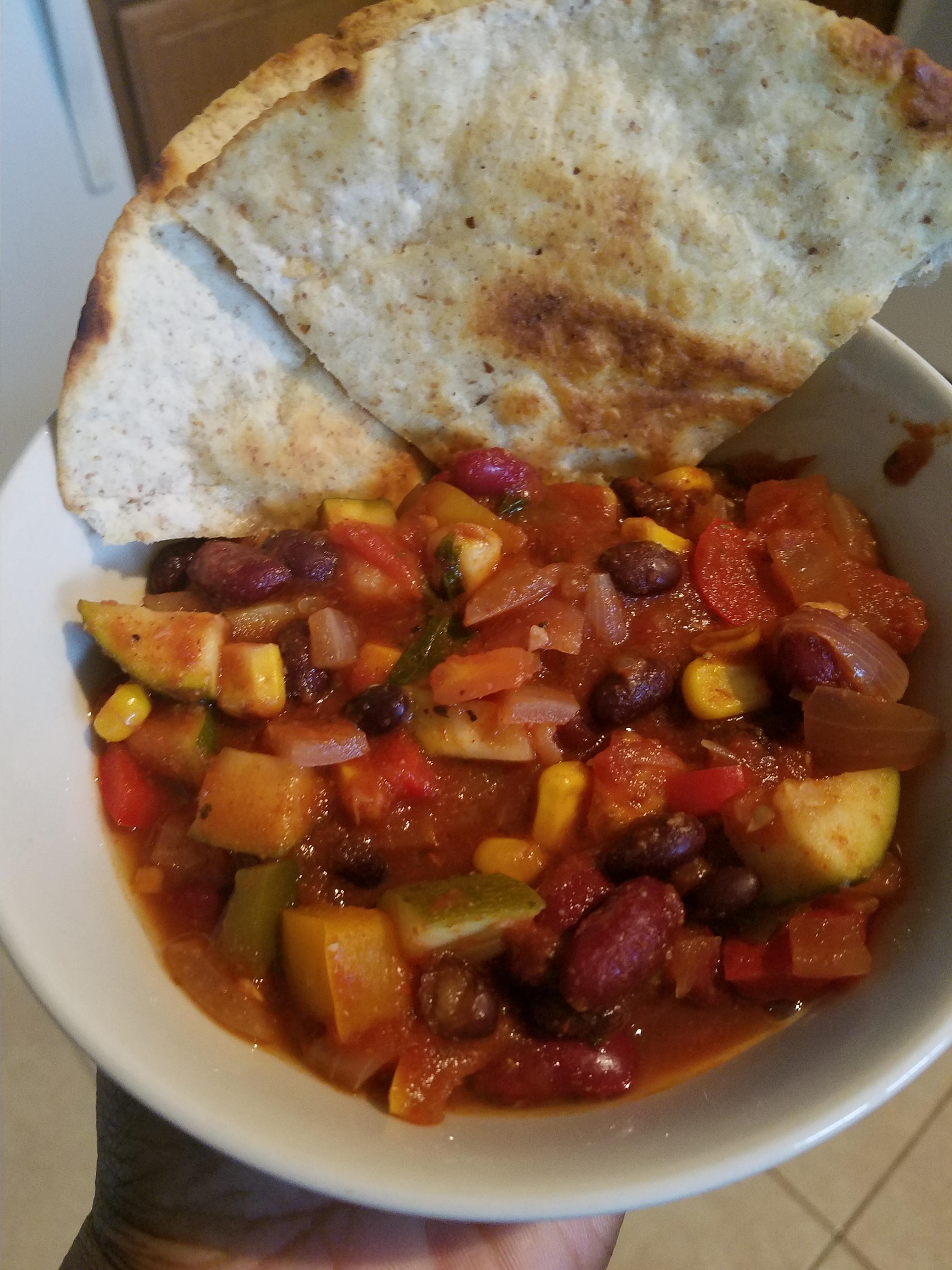 Hearty Vegan Slow-Cooker Chili Demetria Swanigan