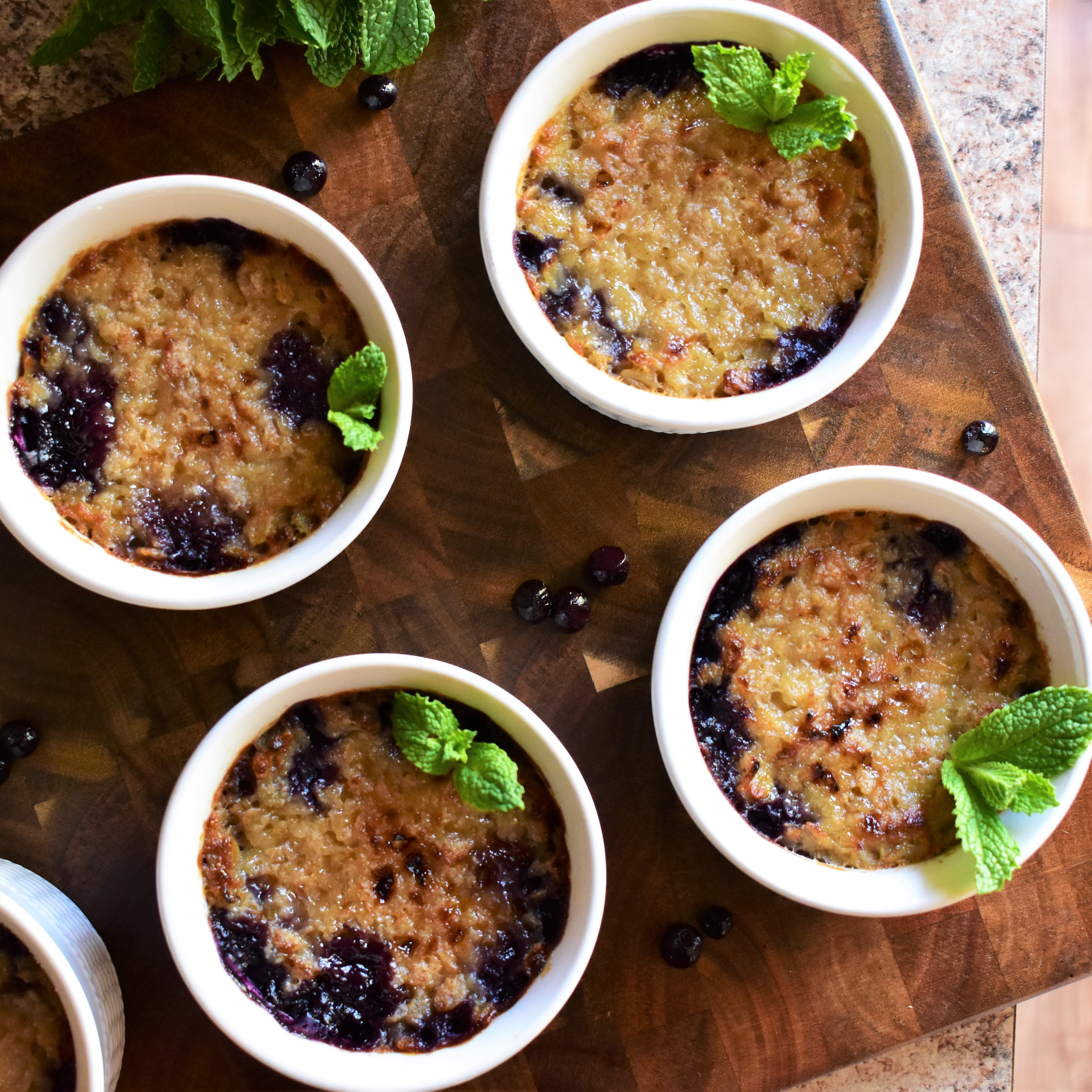 Blueberry Oatmeal Cream Brulee