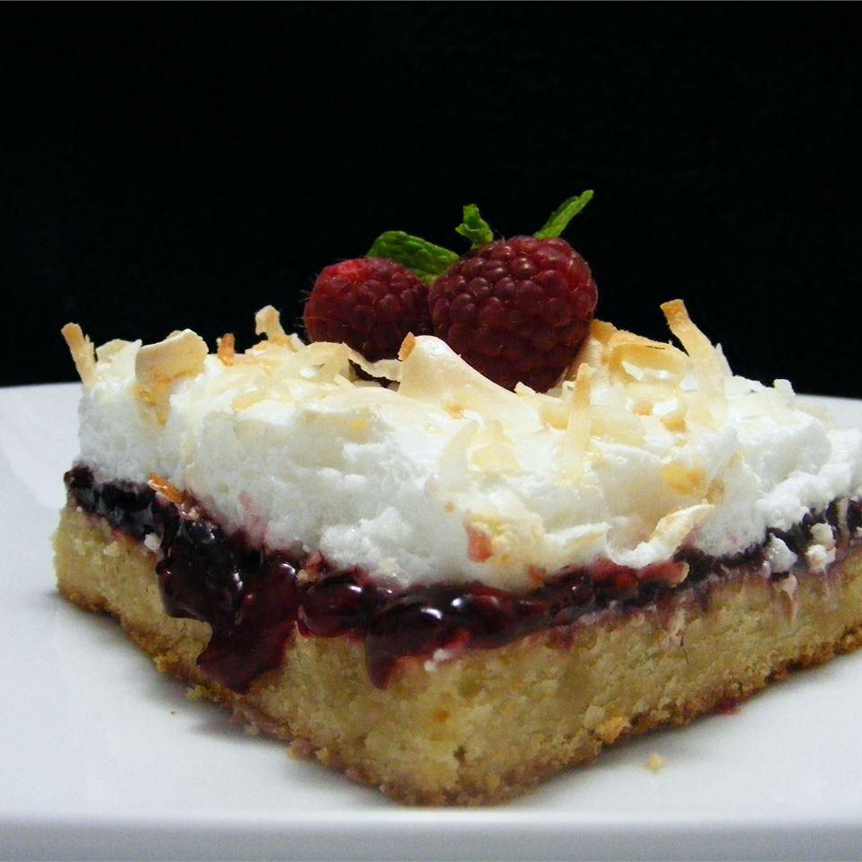Almond-Raspberry Meringue Bars abapplez