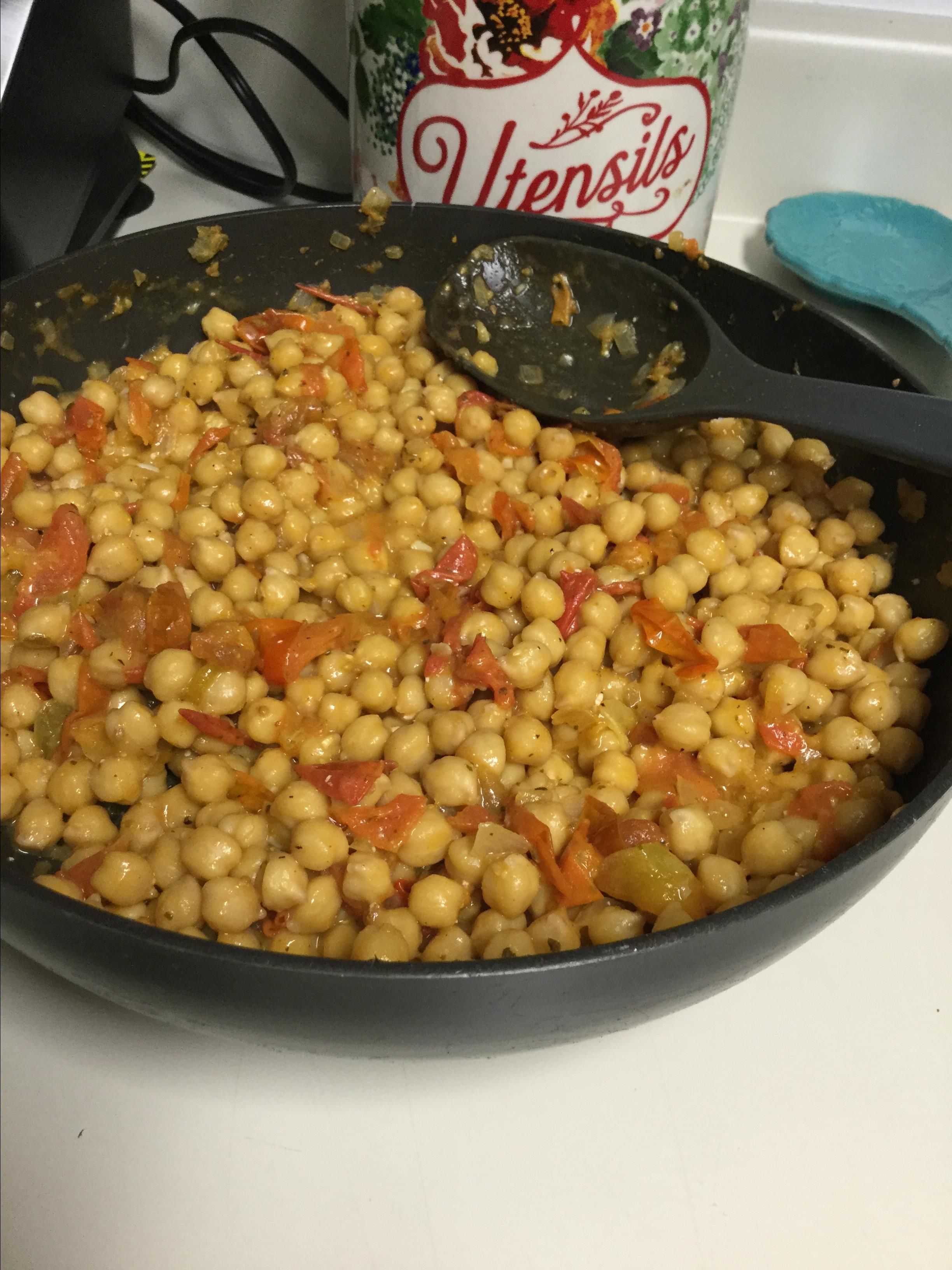 Chickpeas in Tomato Sauce With Feta and Wine Ana Quiroz