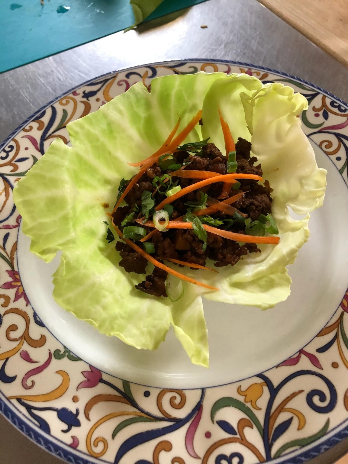 Asian-Style Ground Beef Cabbage Wraps Amy Jo McCord