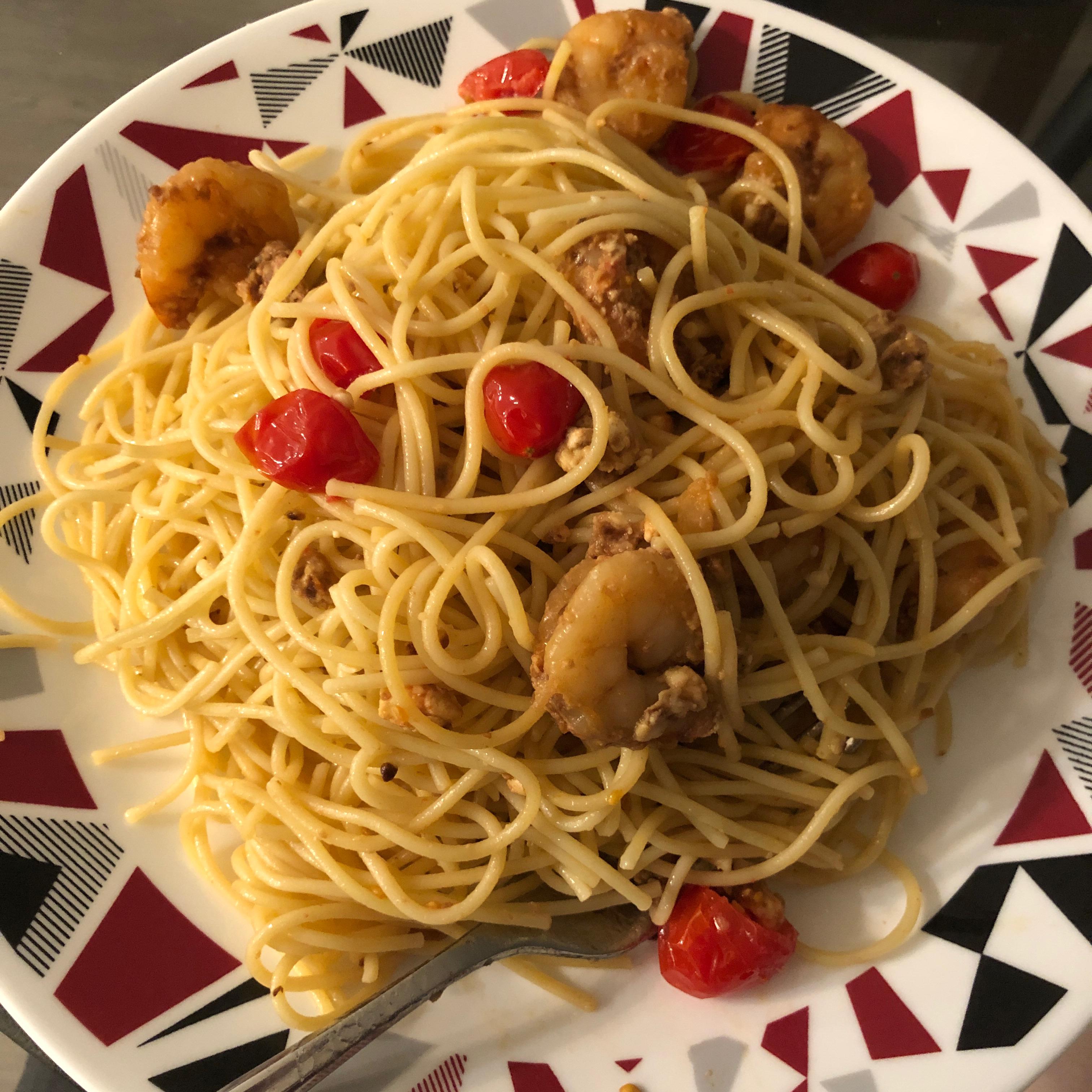 Feta Shrimp Pasta ssully09