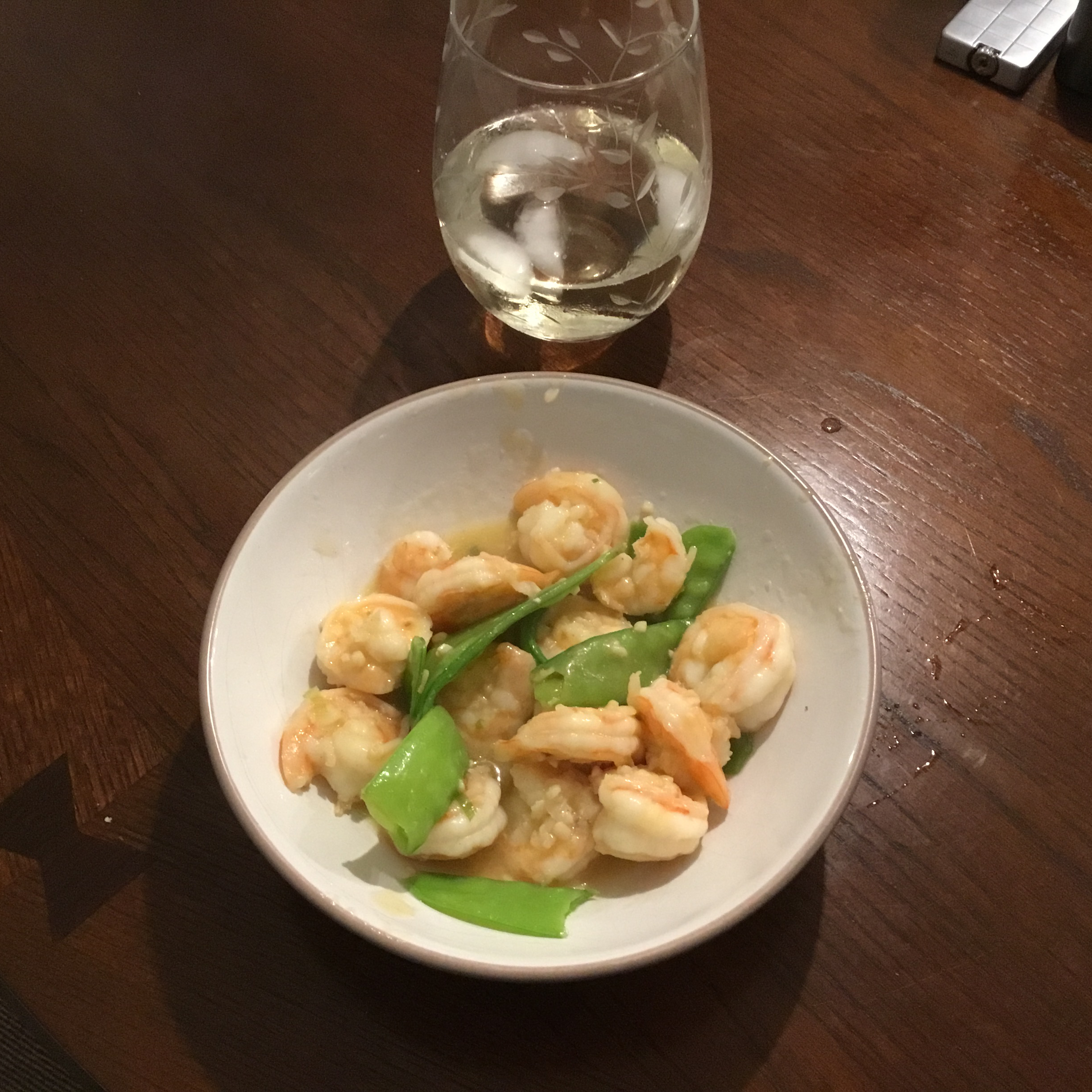 Stir-Fried Shrimp with Snow Peas and Ginger Smoothcwe