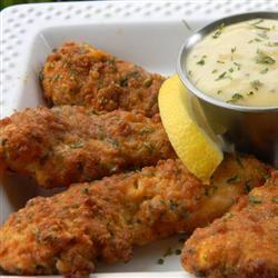 Zesty Low-Fat Chicken Strips with Honey Mustard Dip
