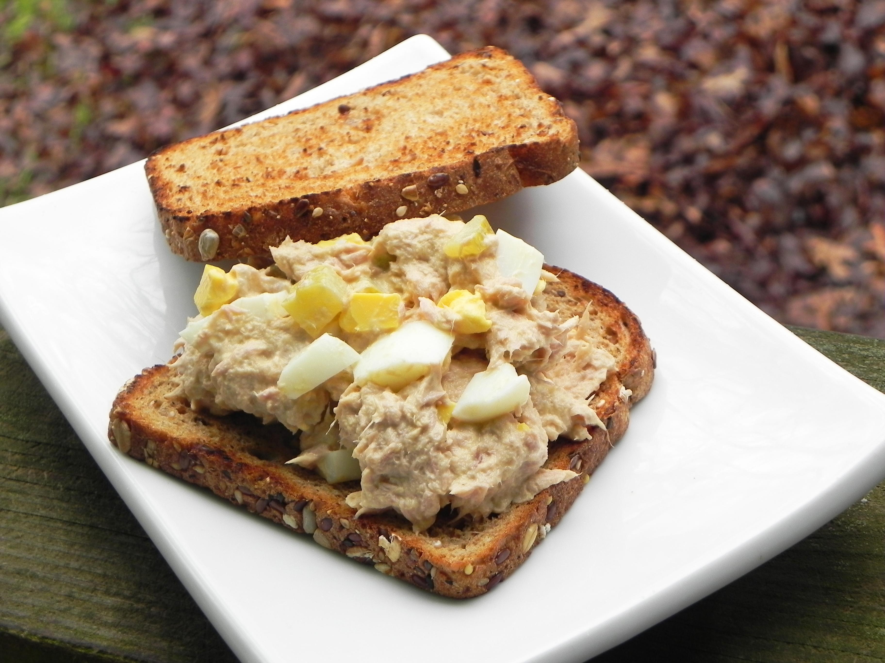 Tuna Salad with Hard-Boiled Eggs