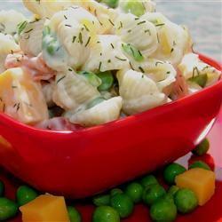 Spring Sweet Pea Pasta Salad GodivaGirl