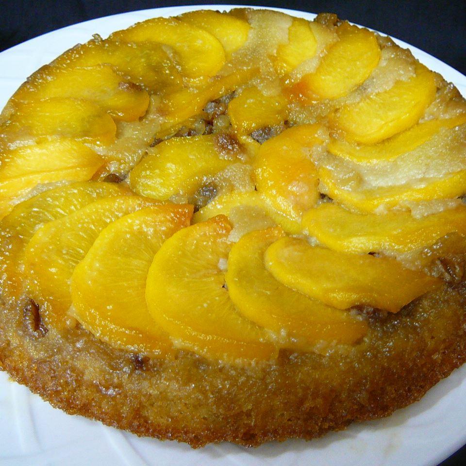 Peach Amaretto Upside-Down Cake Molly