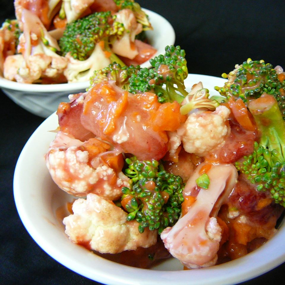 Strawberry Broco-Flower Salad