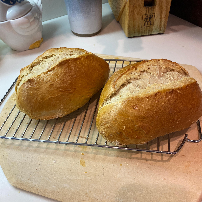 Italian Bread Baked on a Pizza Stone imeldanetsel