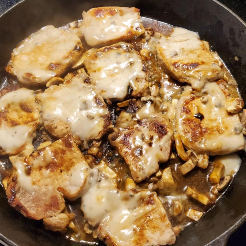 Mushroom Pork Chops Donnie Leviner jr