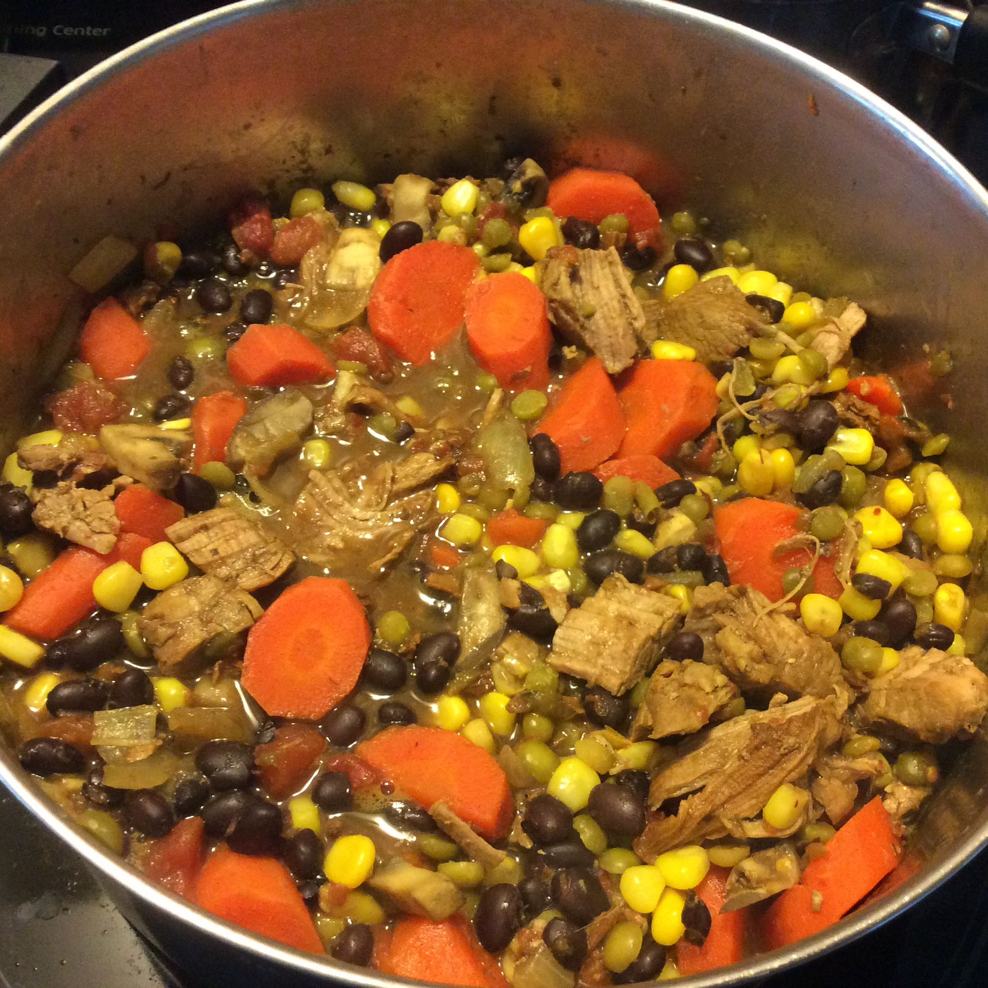 Tender Pork Stew with Beans