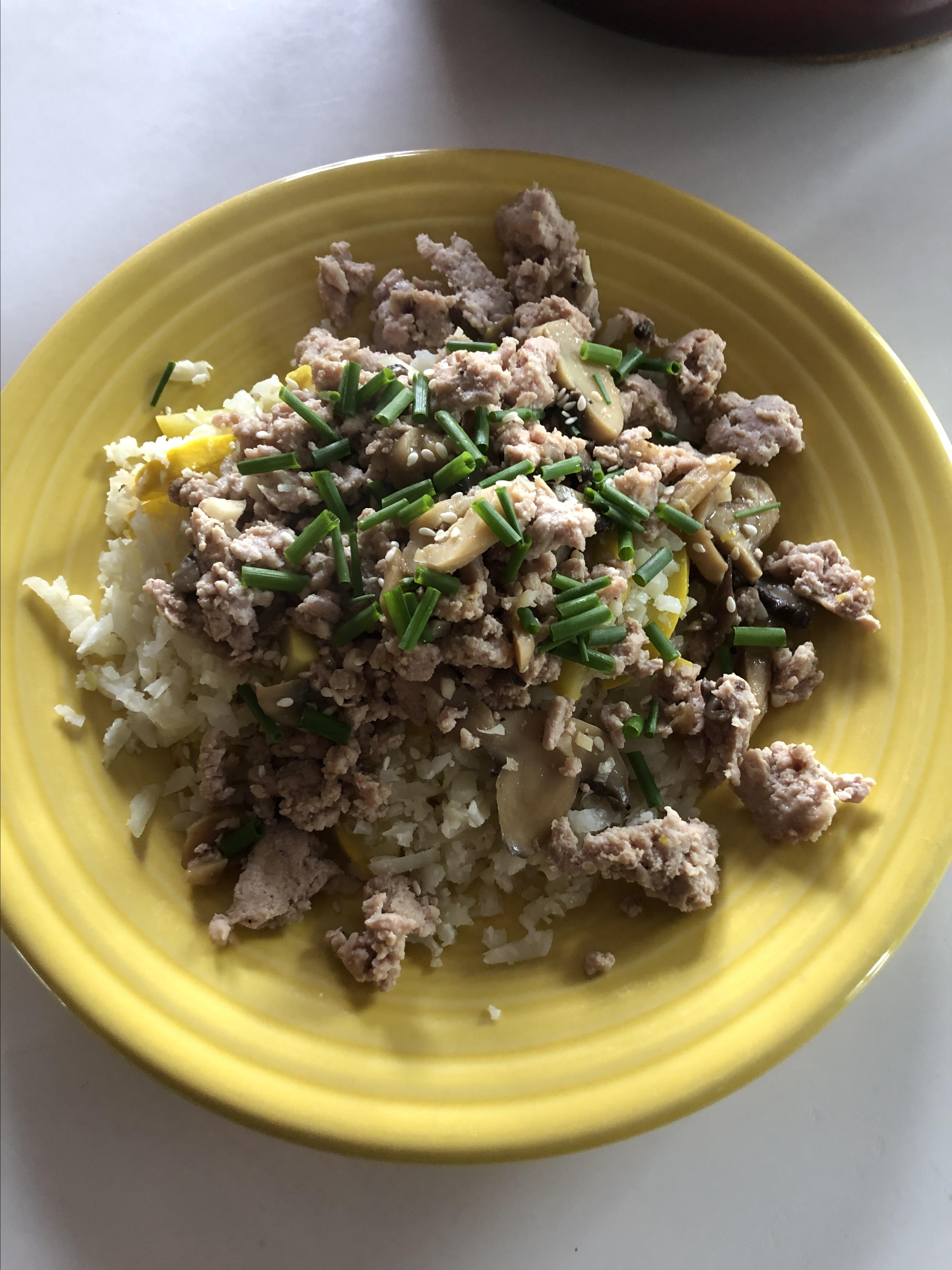 Easy Keto Korean Beef with Cauli Rice