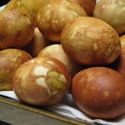 Onion Skin Colored Eggs