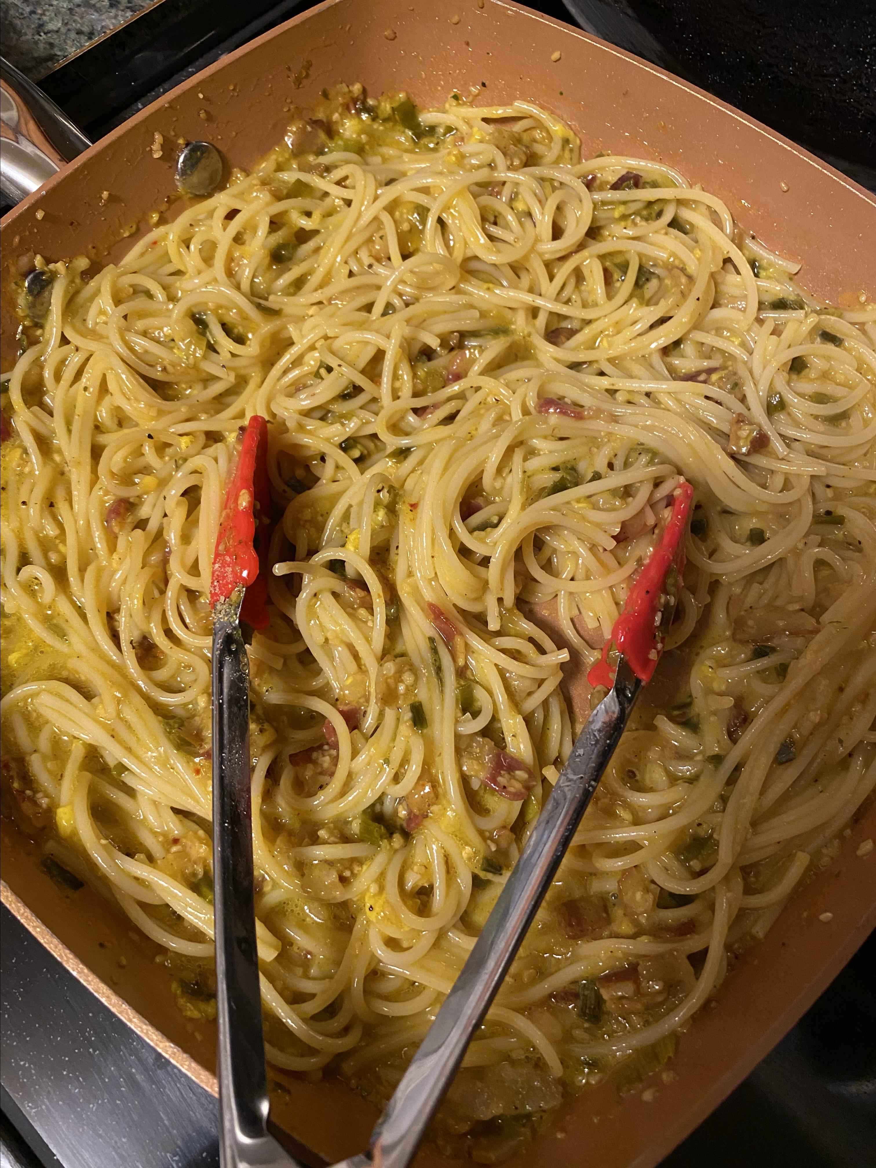 Breakfast Pasta for Dinner