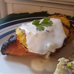 Coconut-Lime Chicken with Grilled Pineapple Lyons8611