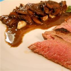 Flat Iron Steak with Mushrooms pelicangal
