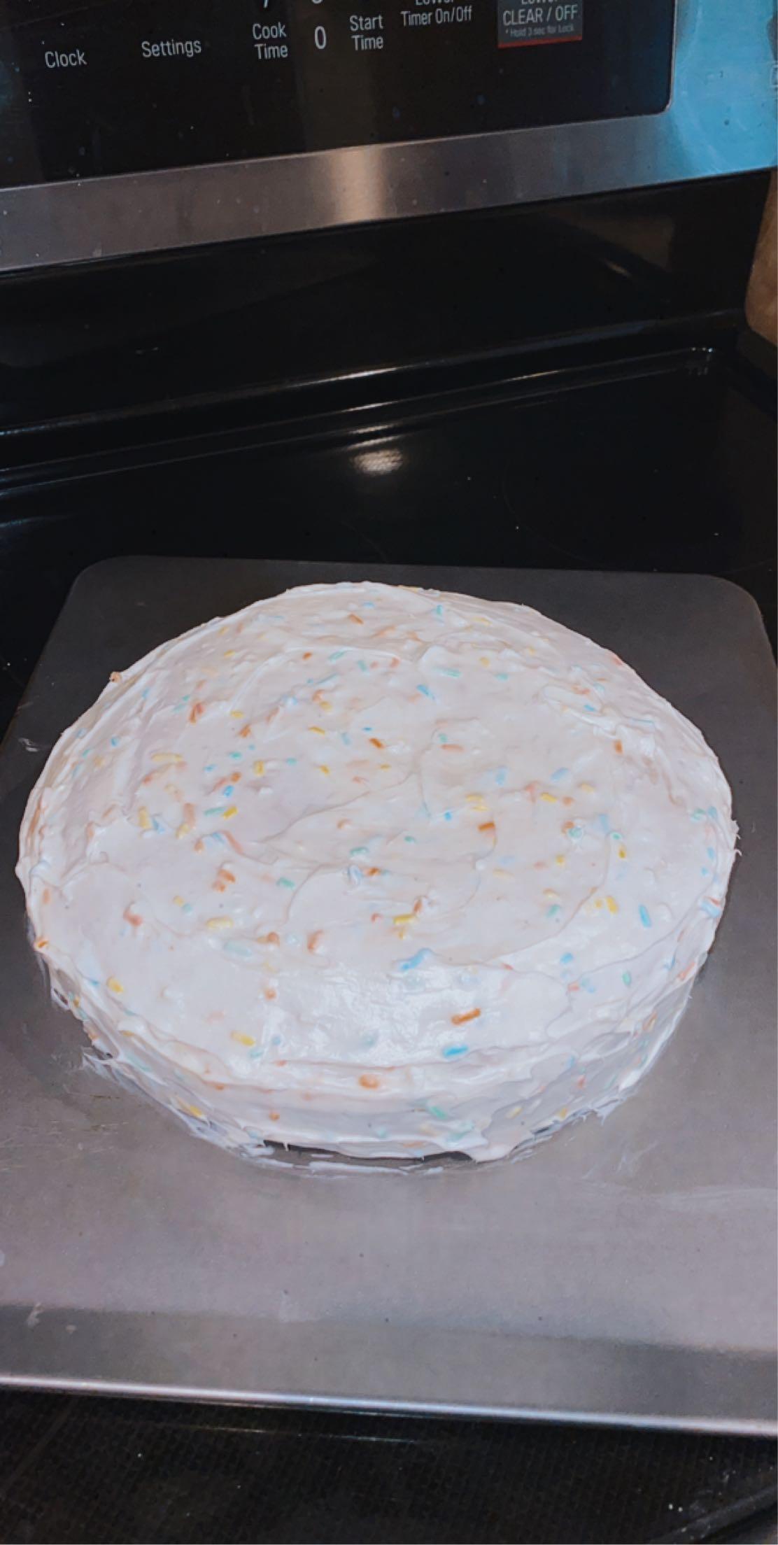 Homemade Vanilla Cake ashley wik