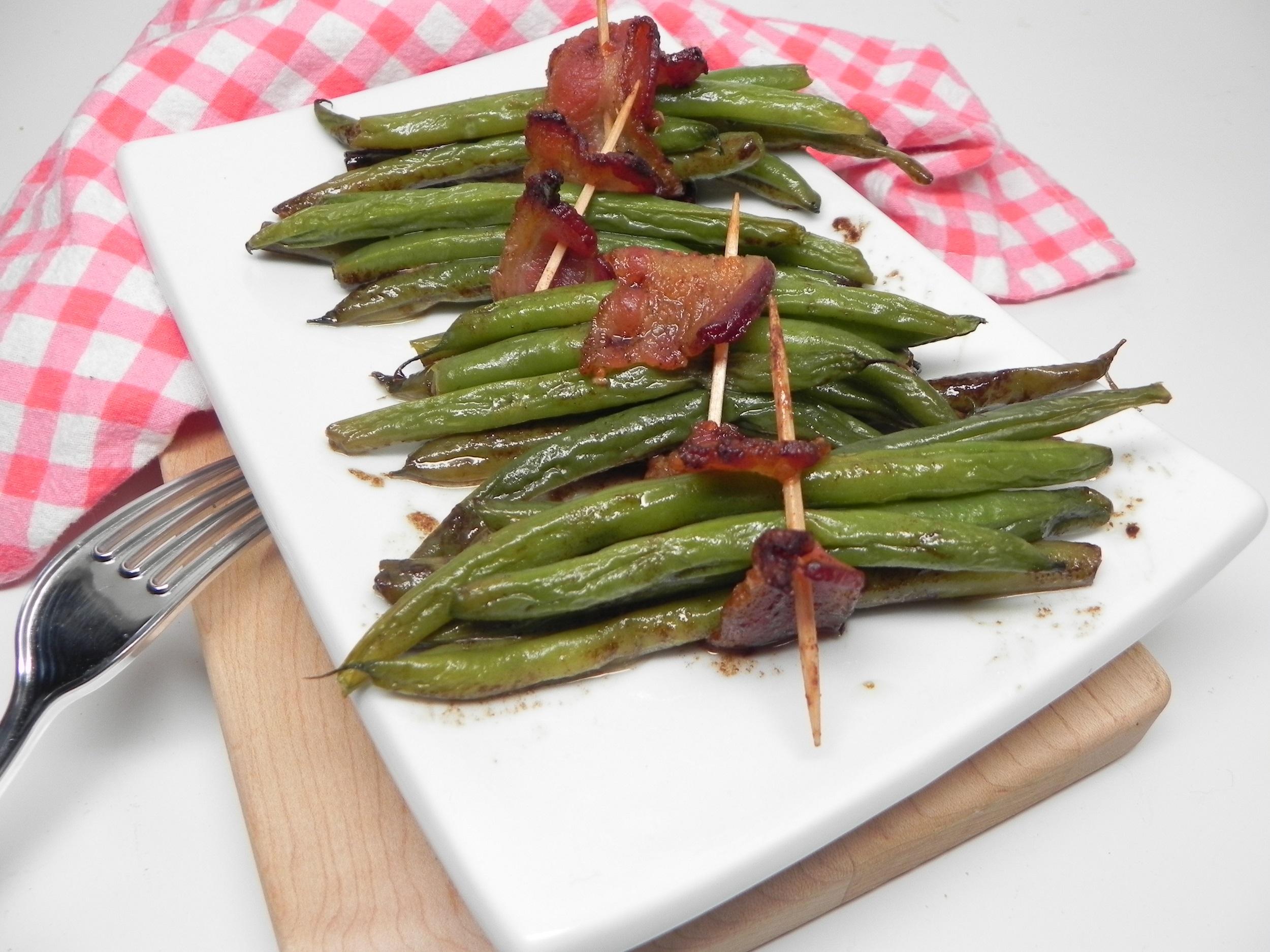 Bacon-Wrapped Sweet Green Bean Bundles