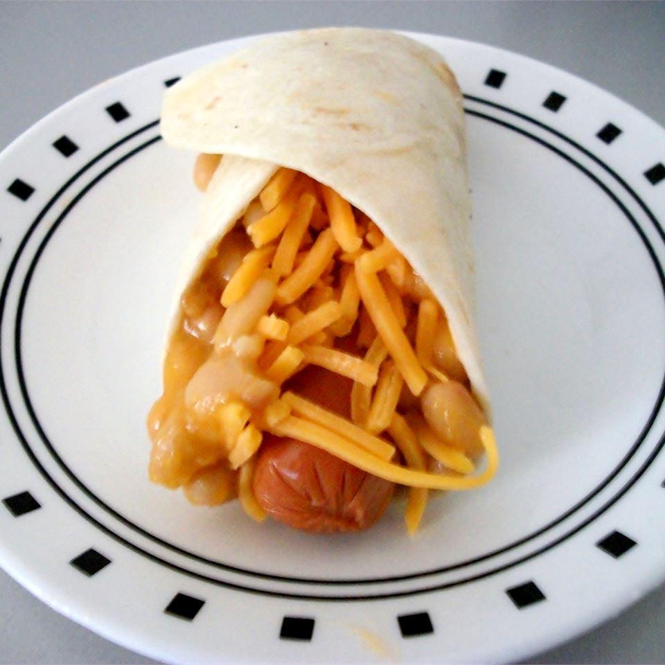 Beanie Weenie Quesadilla Rolls