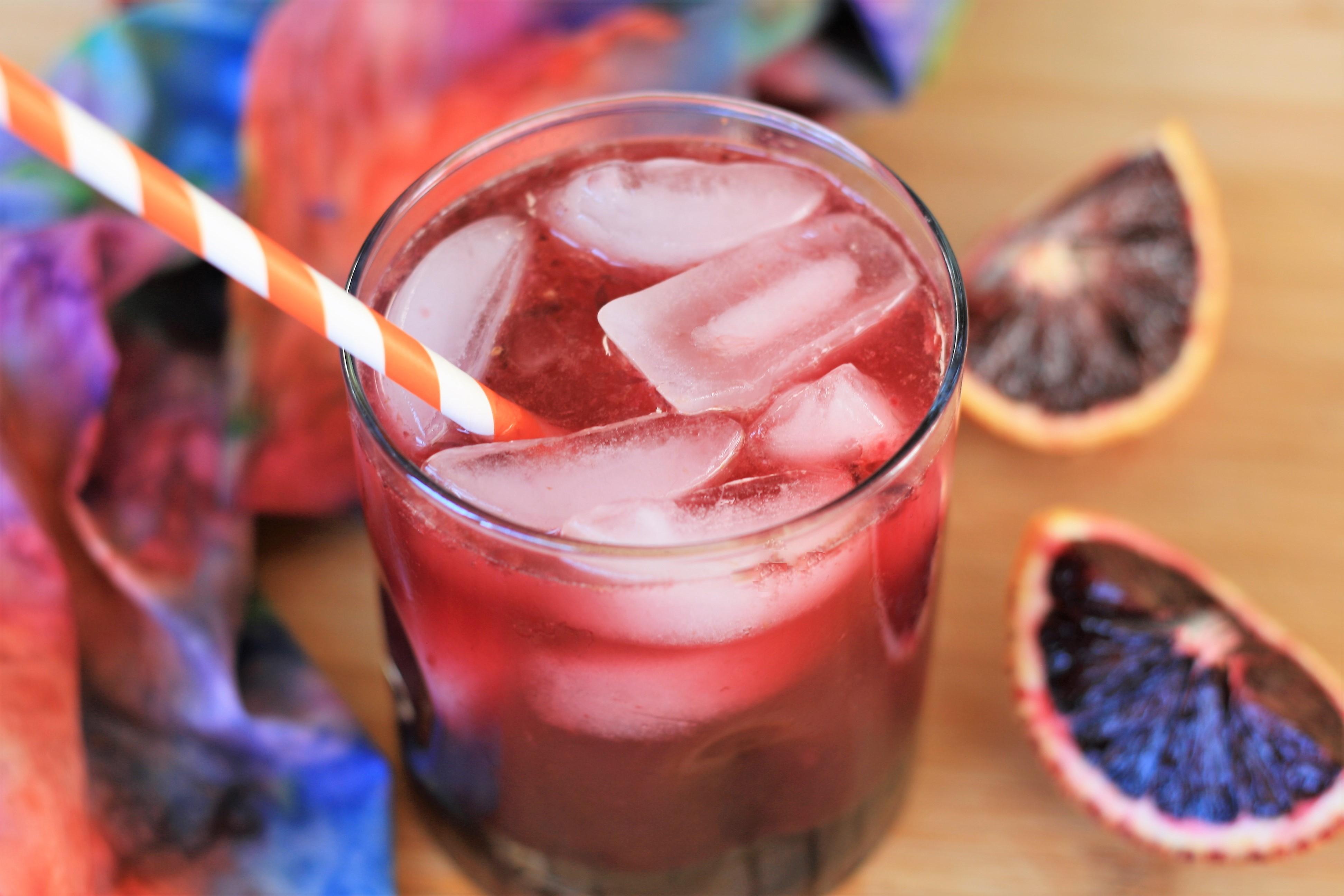 Sparkling Blood Orange Juice