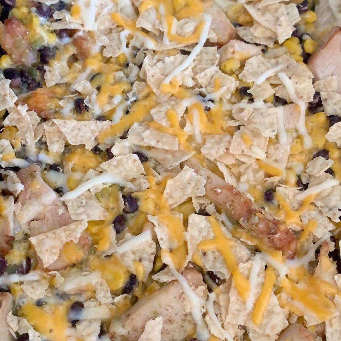 Chicken-Black Bean Casserole