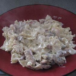 Chicken and Bowtie Pasta with Asiago Cream Sauce Audrey Smith